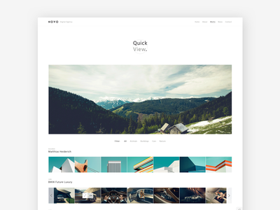 Novo: Quick View clean filter pdf agency minimal gallery website design ux ui quick view novo