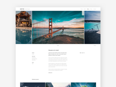 Novo: Work Case related projects ux ui minimal clean website agency portfolio gallery photography novo work case
