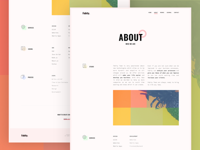 Fabity: About Page (concept) website web vintage ui typography minimal fabity design clean about
