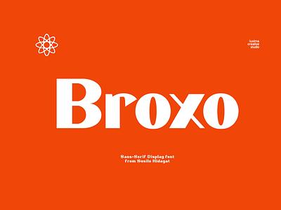 Broxo Sans-Serif vintage illustration retro creative market design free graphic logo dafont creative bold advertisement typeface identity font