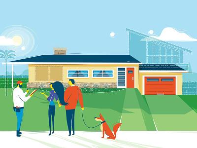 Home Remodel editorial illustration design renovation home vector flat illustration remodeling construction