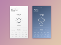 Weather app. Daily UI