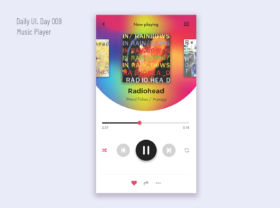 Music Player. Daily UI Challange (Day 009)