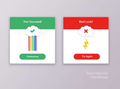 Daily UI Challenge. Flash message (Day 011)