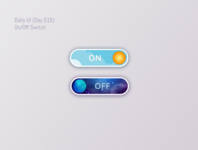 On/Off Switch buttons. Daily UI Challenge (Day 015)