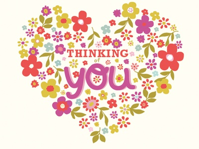 Thinking of you greeting card heart by amanda andres dribbble thinking of you greeting card print graphic design copy m4hsunfo