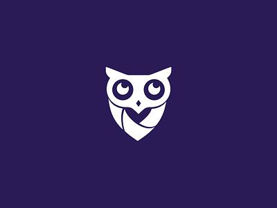 Flat logo Owl logo flat logo flatdesign flat owl