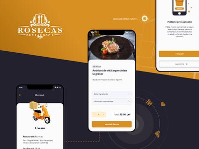 App design - Rosecas ux ui mobile app delivery order mobile interface restaurant food app