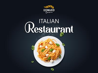 Edward Cuisine restaurant website restaurant design restaurant logo logo restaurant