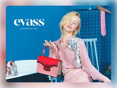 Evass logo fashion logo bags bag fashion e-commerce online shop