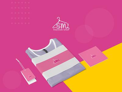 SML Fashion Shop work pink clothing fashion branding logo design illustration