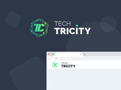 Tech Tricity work green blog technology tech branding logo design illustration