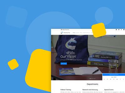 Yone Kyi Yar (Knowledge Propagation Society) work blue website design front-end ux ui