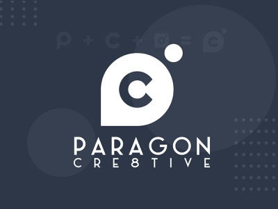 Paragon Cre8tive (Photography Studio) work monochrome photography branding illustration logo design