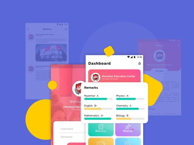 Student Monitoring System work purple mobile ui app design ux ui