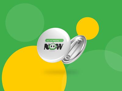 Now (Makerspace) work green makerspace branding illustration design logo