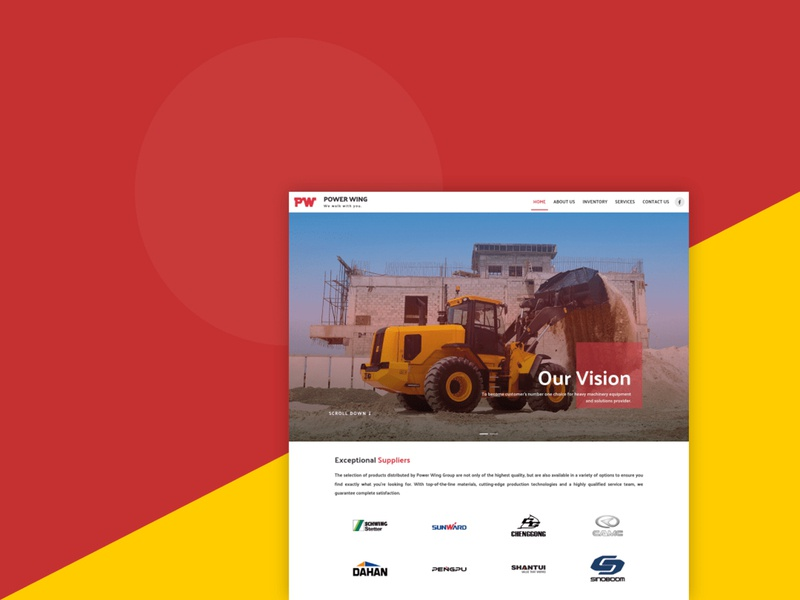 Power Wing work red web design front-end design ux ui