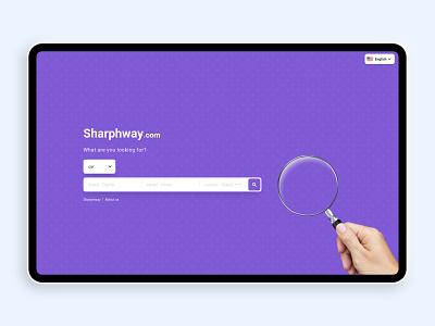 Shar Phway front-end work purple website design ux ui