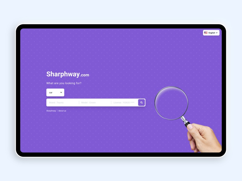 Shar Phway front-end work purple website design ux ui