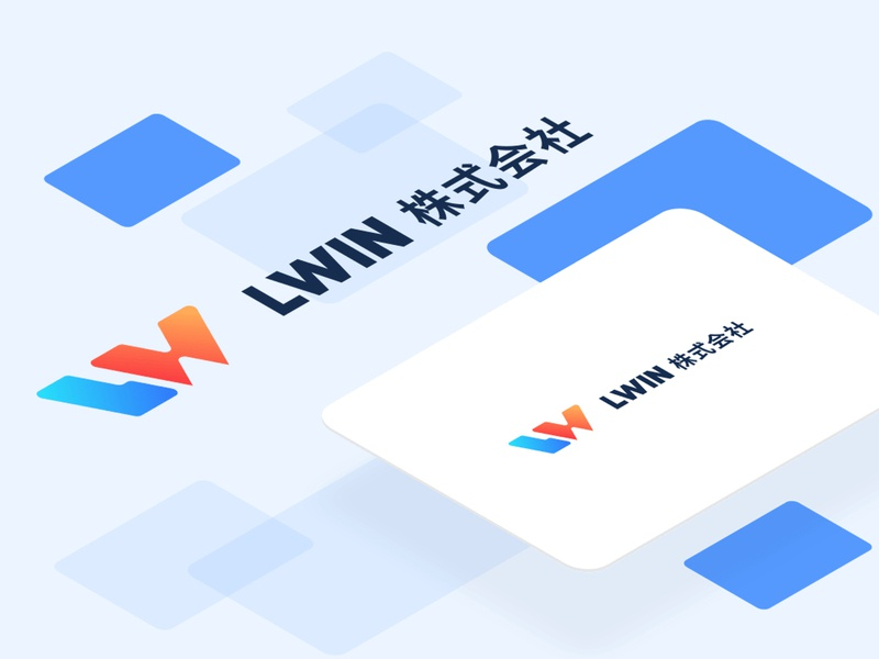 LWIN 株式会社 work company branding illustration design logo