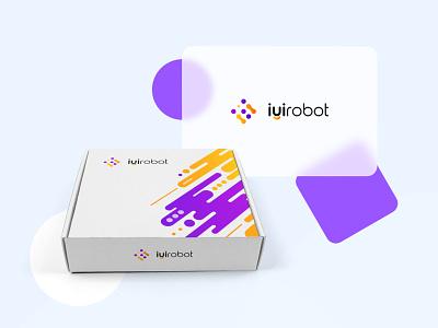 iyi Robot work product technology branding illustration design logo