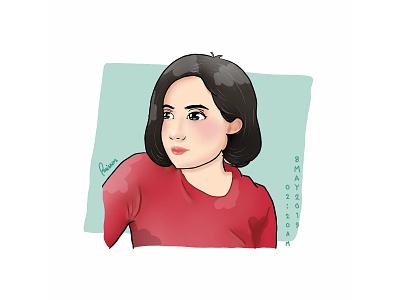 Chibi Girl Portrait character drawing illustraion artwork chibi