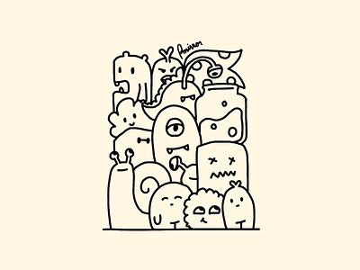 Doodles monsters illustration drawing artwork doodles