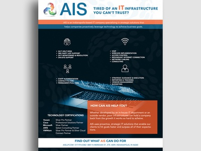 Flyer design for IT company