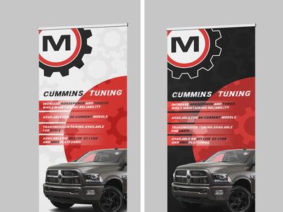 Motor Ops tradeshow banner