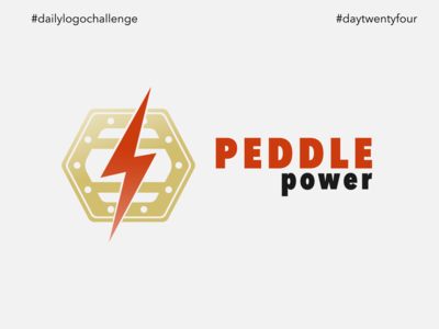 #dlc Bicycle Shop Logo Design - Peddle Power, Day24