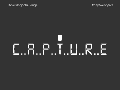 #dlc Photographer Logo Design - Capture, Day 25