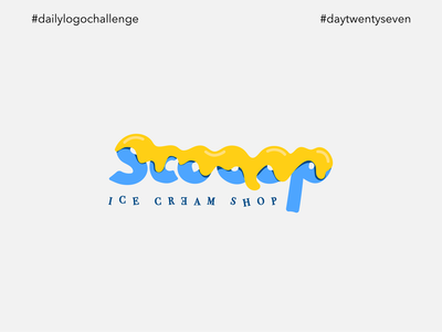 #dlc Ice Cream Shop Logo Design - Scooop, Day 27
