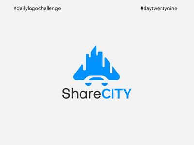 #dlc Ride Sharing App Logo Design - ShareCity, Day 29