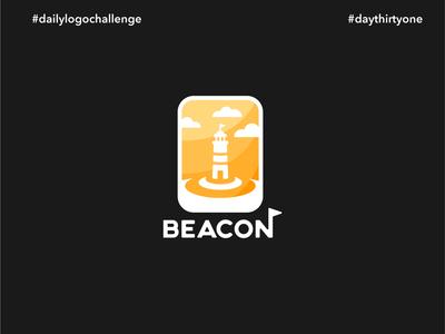 #dlc Lighthouse Logo Design - Beacon, Day 31