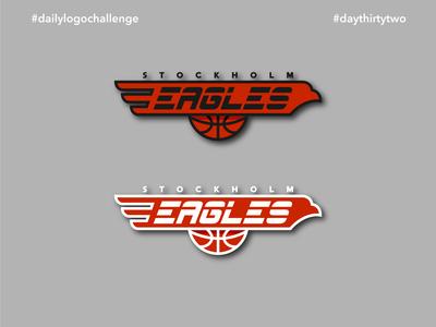 #dlc Sports Team Logo Design - Eagles, Day 32