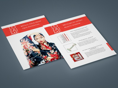 Leaflet design concepts for beauty & cosmetics brand