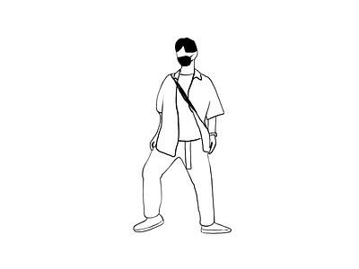 Grooving dancing dancer illustraion frame by frame animation frame by frame animation