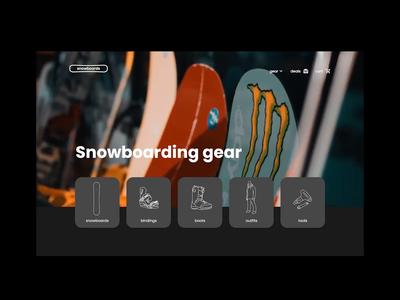 Snowboarding Site snowboarding snowboards snowboard user interface design concept illustration user interface