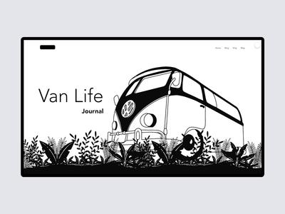 Van Life Journal Website art webdesign animation design ui parallax interaction design interaction concept procreate illustration user interface