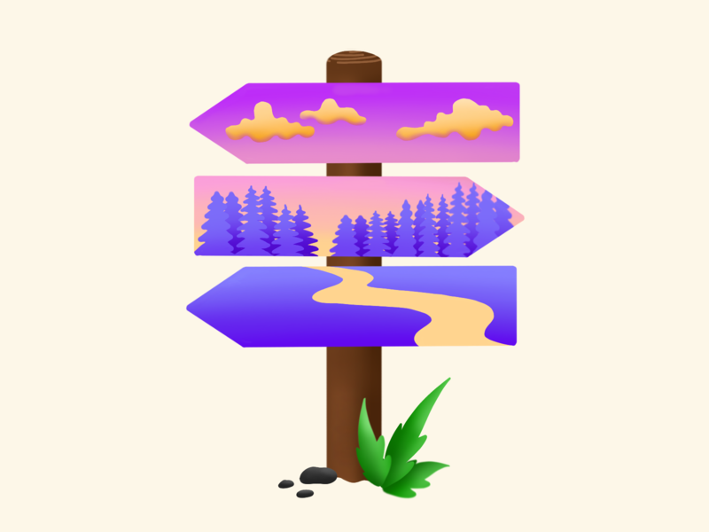 Destination Adventure art procreate illustration