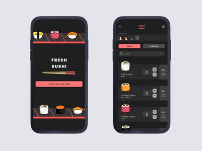 All You Can Eat Order Tracker interactive design solution ux  ui illustration app sushi animation ux ui interaction interaction design user interface design