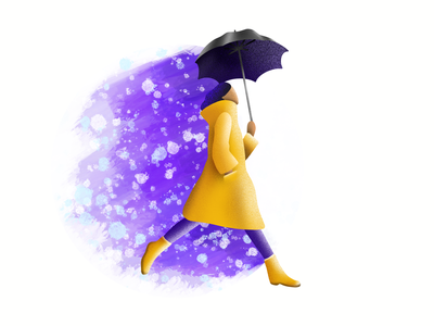 Chasing Rain procreate illustration