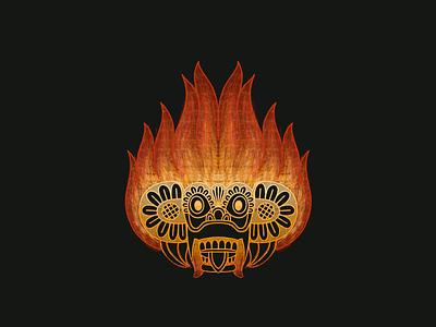 Raksha: Fire Devil motion graphic fire framebyframe illustration