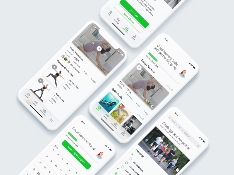 Health Mate accessibility ui design uxdesign fitness app fitness interface design app health ui