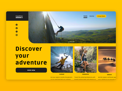 Expedition grid layout design challenge user interface user interface design ui