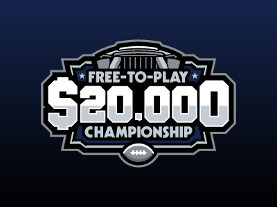 Free-To-Play Championship dallas football nfl fantasy daily fantasy sports sports logos logos sports sports design dfs