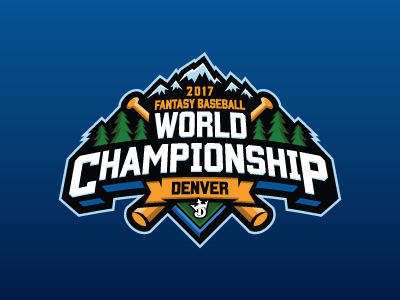 Fantasy Baseball World Championship denver baseball mlb fantasy daily fantasy sports sports logos logos sports sports design dfs
