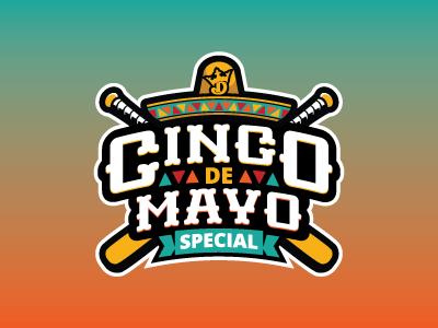 CInco De Mayo Special cinco de mayo baseball fantasy daily fantasy sports sports logos logos sports sports design dfs