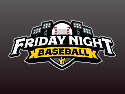 Friday Night Baseball night friday mlb baseball fantasy daily fantasy sports sports logos logos sports sports design dfs