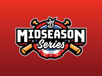 Midseason Series series midseason baseball mlb fantasy daily fantasy sports sports logo logos sports sports design dfs